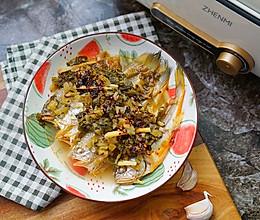 酸菜蒸黄鱼的做法