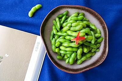 翠绿水煮毛豆有秘诀