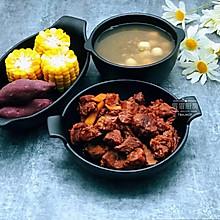 可乐红烧肉+双拼杂粮+绿豆莲子汤
