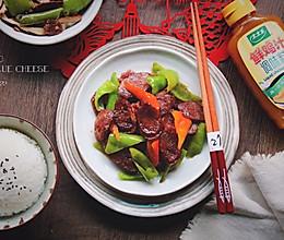 青椒炒香肠#太太乐鲜鸡汁蒸鸡原汤#的做法