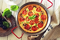 萨拉米意式披萨#雀巢营养早餐#的做法