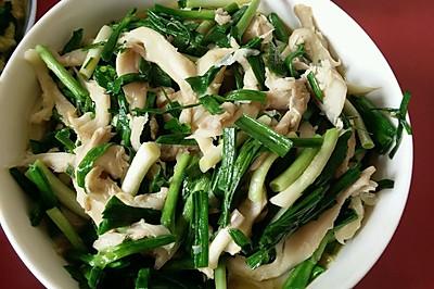 青蒜炒平菇
