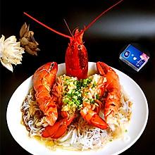 蒜蓉粉丝蒸龙虾#维达与你传承年味#