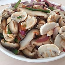 清炒香菇口蘑
