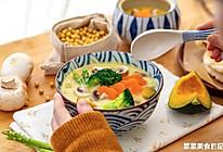 豆浆蔬菜浓汤|温暖落胃的做法