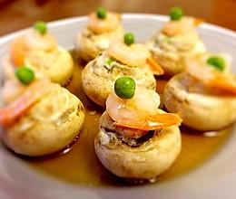 蘑菇翡翠虾仁盏的做法