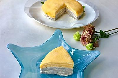 紫薯原味双色千层蛋糕