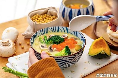 豆浆蔬菜浓汤|温暖落胃