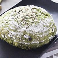 将健康低卡进行到底-抹茶全麦多果料代餐面包的做法图解6