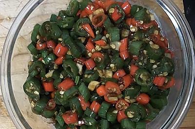 蚝油炒辣椒