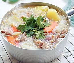 日式土豆羊肉卷汤#快手又营养,我家的冬日必备菜品#的做法