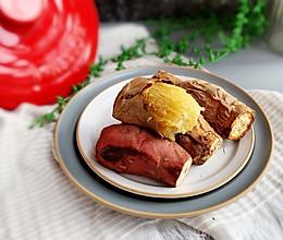 #憋在家里吃什么#黑乐砂锅烤红薯的做法