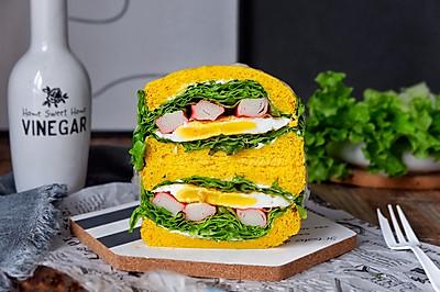 蟹棒煎蛋三明治