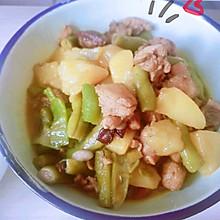 #营养小食光#四季豆土豆炖肉