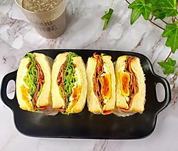 #换着花样吃早餐#七岁儿童自制三明治的做法