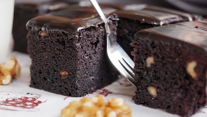 经典巧克力布朗尼#美的烤箱菜谱#