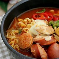 超正宗韩国最美味部队锅家常做法的做法图解11