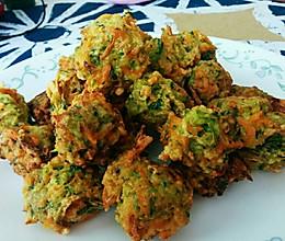 蔬菜丸子(主角萝卜、香菜)的做法