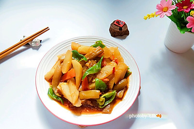 鱼香地三鲜(少油版)