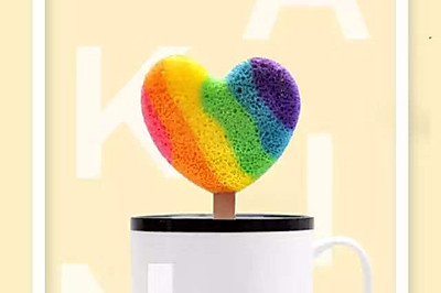 ♥️ 彩虹棒棒糖戚风蛋糕♥️