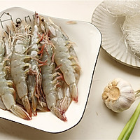 蒜末粉丝蒸虾的做法图解1