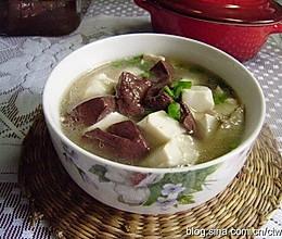 肉丝豆腐猪血汤的做法