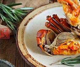 迷迭清酒香蒸蟹,大闸蟹味觉和颜值的新高度的做法
