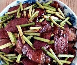 腊肉炒蒜苗的做法