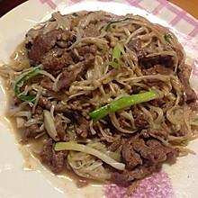金针菇炒牛肉
