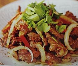 香辣炒羊腿肉的做法