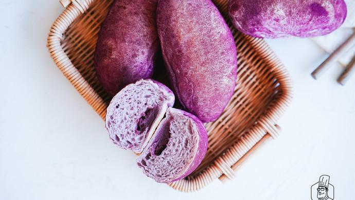 【不藏私食谱】不藏私教你做紫薯面包