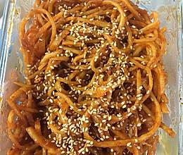 韩国下饭小菜炒鱿鱼丝的做法