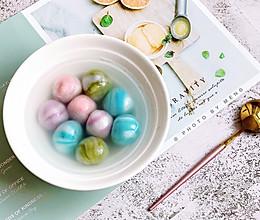 大理石纹汤圆【附三种口味馅料】#憋在家里吃什么#的做法