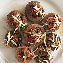 芝士火腿煎蘑菇