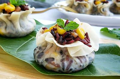 #硬核菜谱制作人#黑米烧麦,健康又美味!