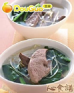 姜丝猪肝汤的做法