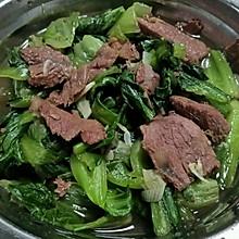 小青菜炒牛肉