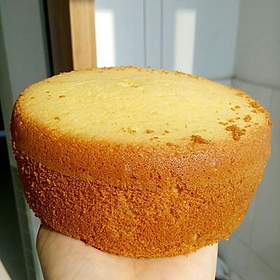 6寸全蛋海绵蛋糕---用面包机做出的美味蛋糕
