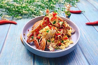 #精品菜谱挑战赛#下酒菜+螃蟹抱蛋