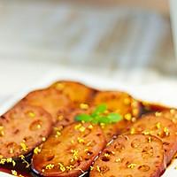 桂花红糖糯米藕