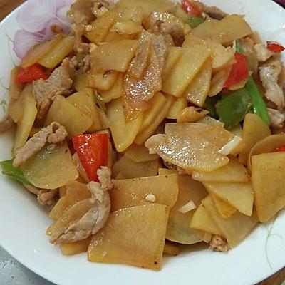 土豆炒肉片