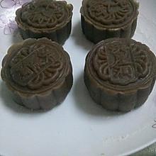 巧克力冰皮蛋黄月饼