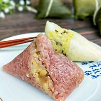 #甜粽VS咸粽,你是哪一党?#紫色三角肉粽的做法图解10