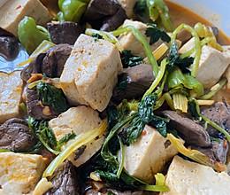 猪血炖豆腐#餐桌上的春日限定#的做法