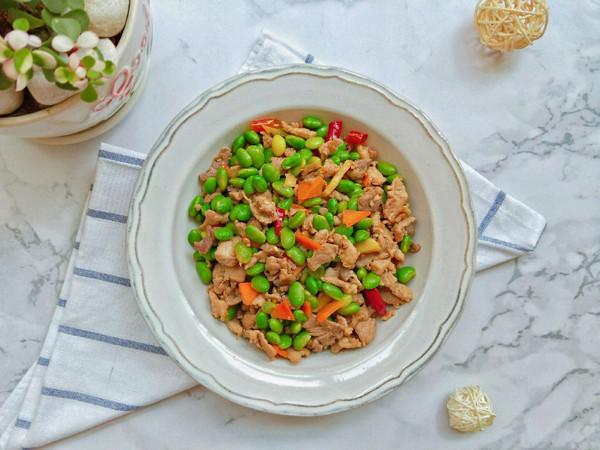 青黄豆炒肉的做法