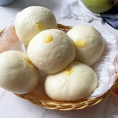 自制奶黄馅做奶黄包