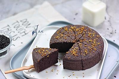 桂花红糖黑米糕-补血不上火#松下多面美味#