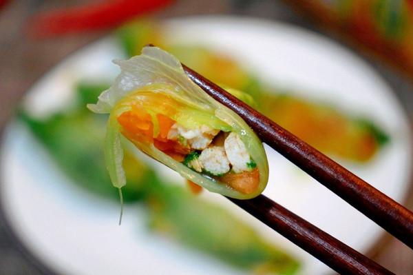 超减脂!西红柿鸡胸肉生菜卷的做法