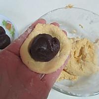 芝麻红薯豆沙饼的做法图解6