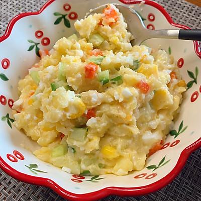 减脂餐——土豆泥鸡蛋沙拉